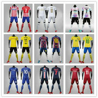 Kids Adult Club Training Suit Soccer Football Outfit Childrens-Teenagers Suit