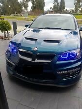 Holden VE Commodore S1 SSV Projector Headlights w/ RGB LED Angel Halos - Remote