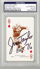 Jim Taylor AUTO 1963 Stancraft PSA/DNA Green Bay Packers HOF 76