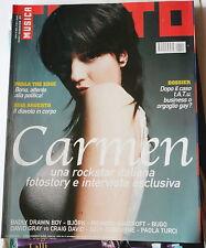 Carmen Consoli copertina TUTTO Bjork Richard Ashcroft OZZY Asia Argento