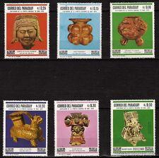 39T3 PARAGUAY 6 timbres  neufs Vases,statuettes de l'ancienne épopée du pays