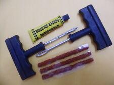 Car Tubeless Flat Tire Repair Kit Tool Split Eye Needle Rubber Cement DIY