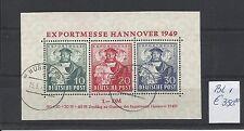 DEUTSCHE POST @ 1949   BL. 1  USED  € 350.00 @ GERM.55