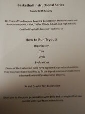 Basketball Coaching Booklet: How to Run Tryouts - Organization, Tips, and Drills