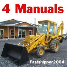 4 Manuals Ford 550 555 Tractor Loader Backhoe Service Operator Parts Catalogs CD