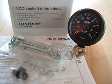 VDO Drehzahlmesser 0-8000 U/min rpm 52mm Cockpit International Classic 12V 8000