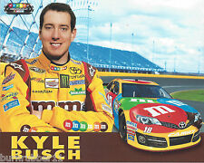 "2013 KYLE BUSCH ""M&M'S"" #18 NASCAR SPRINT CUP SERIES POSTCARD"