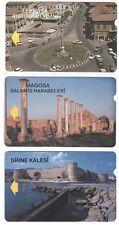 Chypre du Nord - Alcatell Phonecards - Les 3ères cartes publiques - Used/Usagées