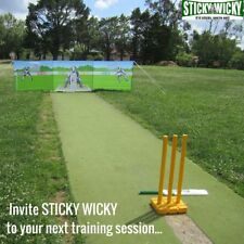 Sticky Wicky All Rounder Outdoor Cricket Game With Bat & 3-pack of Balls 5y