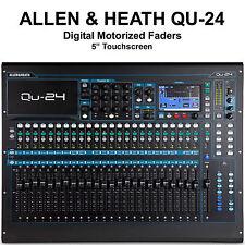 ALLEN & HEATH QU-24C Digital Touchscreen Motorized Fader USB/AES Audio Mixer
