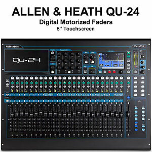 ALLEN & HEATH QU-24C Digital Touchscreen Motorized Fader USB/AES Audio Mixer