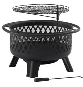 NEW 30inch Fire Pit/Outdoor grilling and bbq Perfect for family fun outdoors