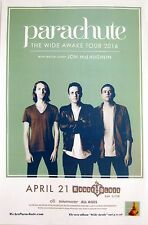 "PARACHUTE/JON MCLAUGHLIN ""WIDE AWAKE TOUR 2016""SAN DIEGO CONCERT POSTER-Pop Rock"