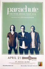 "PARACHUTE/JON MCLAUGHLIN ""WIDE AWAKE TOUR 2016""SAN DIEGO CONCERT POSTER-Pop Rock"