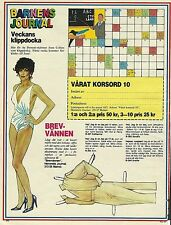 Joan Collins DYNASTY Vintage Swedish Paper Doll TV Film Actress
