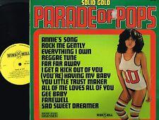 SOLID GOLD Parade Of Pops VINYL LP Bill Martin JOHN DENVER Wind Mill WPP5018 @Ex
