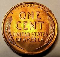1941 D Lincoln Wheat 1c UNC-RED/BROWN~TOUGH SEMI KEY DTE from UNCIRCULATED roll.