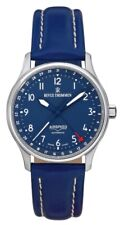 Revue Thommen Airspeed Automatic 26 Jewels Blue Leather Men's Watch 16005.2535