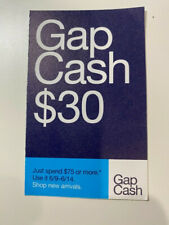 $30 GAP CASH - VALID 6/9/2021 - 6/14/2021 For Online or In-Store