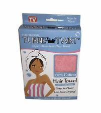 The Original Turbie Twist Super Absorbent Hair Towel Cotton Pink New