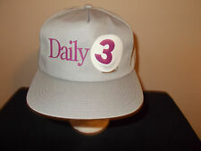 VTG-1990s Minnesota Lottery Daily 3 gambling snapback retro hat sku19