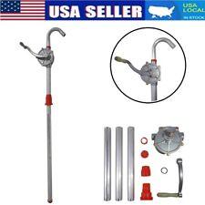 H D Aluminum Rotary Gas Oil Fuel Hand Pump 55 Gallons Self Priming Dispenser Us