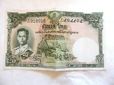 1950's Thailand Twenty (20) Baht Note