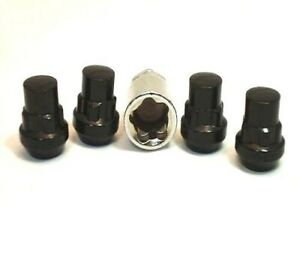 4 Pc HONDA S2000 BLACK LOCKING LUG NUTS CUSTOM WHEEL LOCKS # AP-20705BK