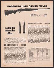 1977 MOSSBERG Model 810 810AH, 810BH. 810CH Rimfire Rifle AD