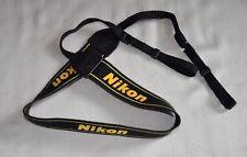 NIKON BLACK/YELLOW W 37mm GENUINE SHOULDER NECK STRAP *3* FOR DSLR CAMERA USED3