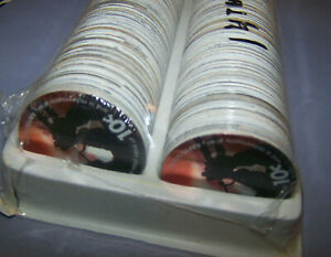 14th Print 2010 Tray of 500 Uncirculation 10 cents AAFES pogs with  FOIL BUGLER