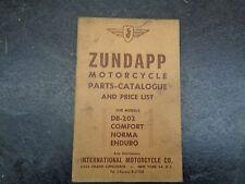 Zundapp  DB 202 Comfort Norma Enduro Parts Catalog Manual    #34  1054