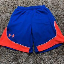Under Armour Girls Pop A Shot Basketball Shorts Blue Orange Size Medium YMD