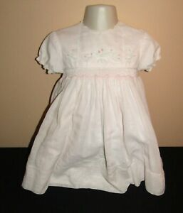 Sarah Louise Pink Dress Size 18 Months Hand Smocked Embroidered