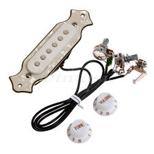 Magnet Electric Guitar Pre-Wired Pickup Soundhole Pickup Set Jack Knobs For Folk