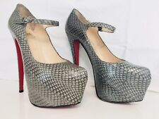 7e21ff7732e0 Authentic Women s Christian Louboutin Mary Jane Lady Daf Cobra Gray - Size  38