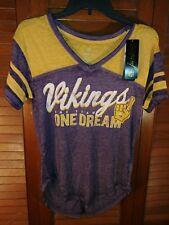 New junior NFL Minnesota Vikings burn out shirt- Medium 7 9 c56cae632