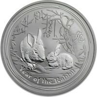 2011 Year of the Rabbit .999 Silver 1 Oz Australian Lunar Coin, Perth Mint.