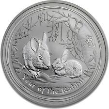 2011 Year of the Rabbit .999 Silver 1 Oz Australian Lunar Coin, Perth Mint.