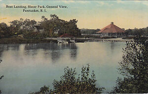 Slater Park Boat Landing PAWTUCKET Rhode Island 1907-15 Woolworth Co. Postcard