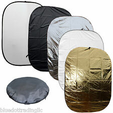 """5-In-1 60x79"""" Collapsible Multi Lighting Reflector Kit Photo Photography FREESH"""