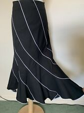 Black White Size 16 Fishtail Skirt Maxi Cotton Stretch Romeo Pour Juliette