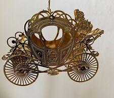 "Danbury Mint - 2008 Gold Christmas Ornament - ""Yuletide Carriage"""