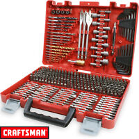 NEW Craftsman 300 Piece Drill Drive Screwdriver Bit Set Accessory Kit With Case