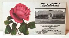 Crosses Roses flower store, Grand Rapids, Michigan, ink blotter ad, old c. 1920