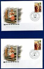 2017. Russia. Joint Issue of the RCC Member. National crafts. Bast. FDCs