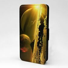 For Apple iPod Touch Flip Case Cover Planets Galaxies Space - T2450