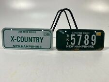 Vtg Collectible MiniBike License Plates Set of 2! State Of New Hampshire
