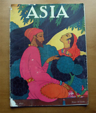 Antique ASIA Magazine~May 1925~art deco cover by Macintosh~South Seas~Moscow-NR