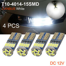 4pcs T10 Canbus W5W 15SMD 4014 Car LED Wedge Side Lggage Compartment Light White